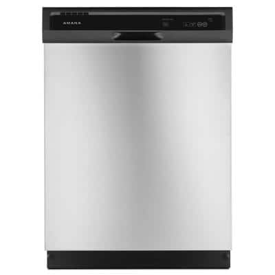 24 in. Stainless Steel Front Control Built-in Tall Tub Dishwasher Stainless Steel with Triple Filter Wash System, 63 dBA