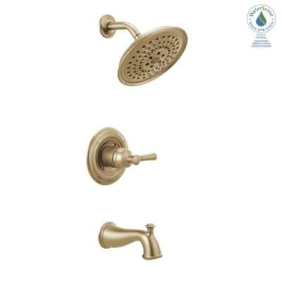 Mylan Single-Handle 3-Spray Tub and Shower Faucet with H2Okinetic in Champagne Bronze (Valve Included)