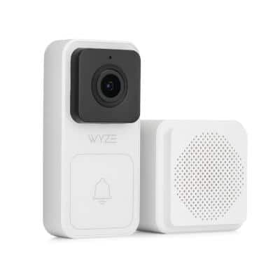 Wired Video Doorbell Kit (Chime Included), 1080p HD Video, 3:4 Aspect Ratio, 2-way Audio, Night Vision, 1 Year Cam Plus