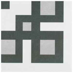 Twenties Corner 7-3/4''x7-3/4'' Ceramic Floor and Wall Tile (0.42 sq. ft./Each)