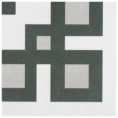 "Twenties Corner 7-3/4""x7-3/4"" Ceramic Floor and Wall Tile (0.42 sq. ft./Each)"