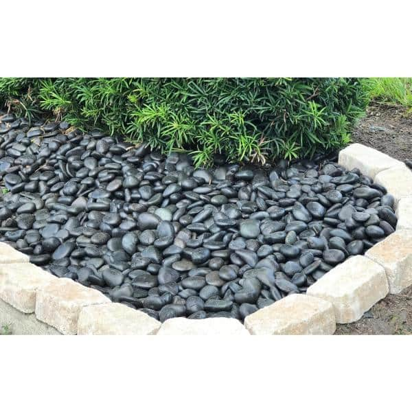 Rain Forest 20 Lb Grade A Black Polished Pebbles 1 In To 2 In Rfbrpa2 20 The Home Depot