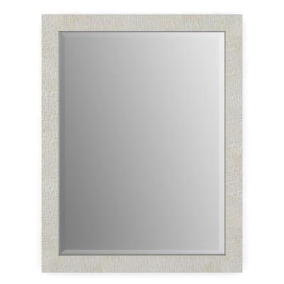 21 in. W x 28 in. H (S1) Framed Rectangular Deluxe Glass Bathroom Vanity Mirror in Stone Mosaic