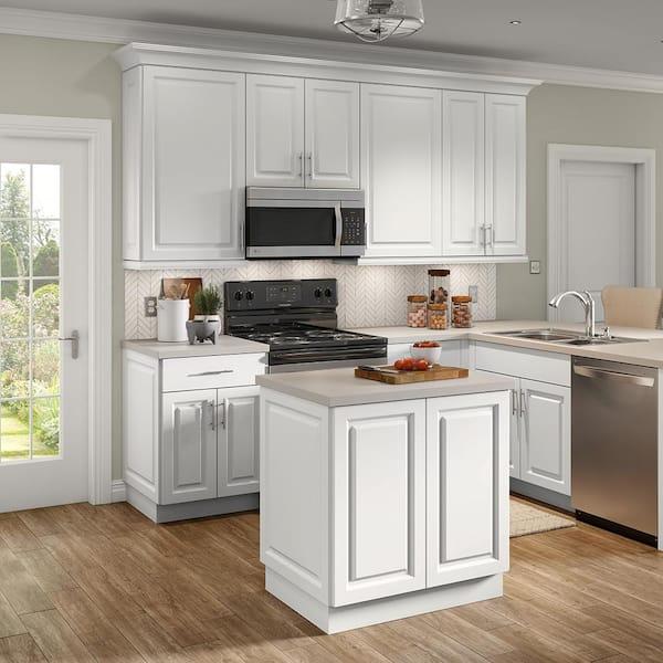 Hampton Bay Benton White Raised Panel, Kitchen Cabinet Cost Home Depot