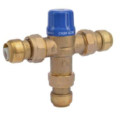 3/4 in. Brass Heat Guard 110-D Thermostatic Mixing Valve