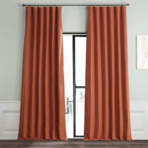 Warm Ember Rod Pocket Blackout Curtain - 50 in. W x 120 in. L