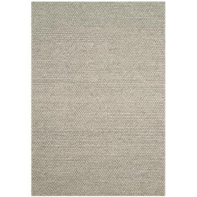 Natura Silver 4 ft. x 6 ft. Solid Area Rug