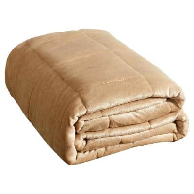 20 lbs. Mink to Mink Weighted Blanket Tan