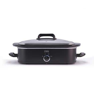 4 Qt. Black Slow Cooker with Locking Lid for Casseroles