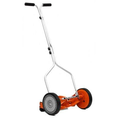 14 in. 4-Blade Manual Walk Behind Reel Lawn Mower