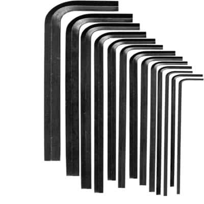 SAE Inch Sizes 0.050 in. to 3/8 in. L Series Hex-L Key Allen Wrench (13-Piece Set)