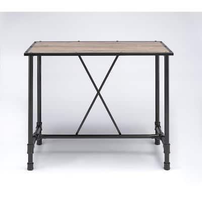 Caitlin Rustic Oak Pub/Bar Table