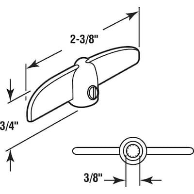 3/8 in. Bronze Tee Handle Casement Operator (2-pack)