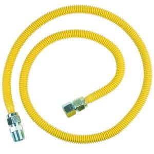 ProCoat 3/4 in. FIP x 3/4 in. MIP x 60 in. Stainless Steel Gas Connector 5/8 in. O.D. (93,200 BTU)