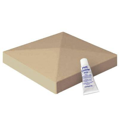 4 in. x 4 in. Wicker Vinyl Pyramid Post Cap
