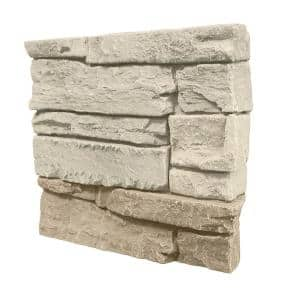 Stacked Stone 12 in. x 12 in. Vanilla Bean Faux Stone Siding Sample