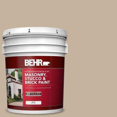 5 gal. #MS-43 Sandstone Flat Interior/Exterior Masonry, Stucco and Brick Paint