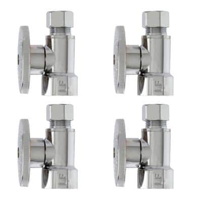 1/2-in FIP x 3/8-in Compression Multi-Pack Quarter Turn Straight Valves