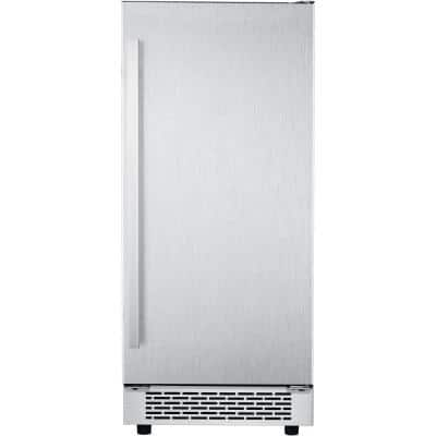Luxury Series 32 lb. Built-In/Freestanding Ice Maker in Stainless Steel
