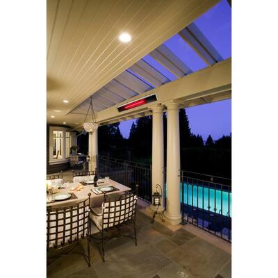 1800-Watt Stainless Steel Infrared Ceiling-Mounted Indoor/Outdoor Electric Heater