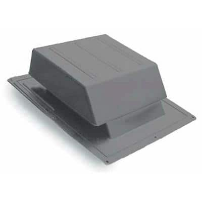 65 sq. in. NFA Gray Resin High Impact Slant Back Roof Louver Static Vent (Carton of 6)