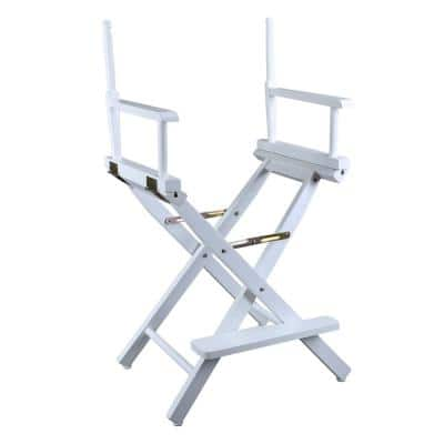 24 in. Director's Chair White Solid Wood Frame