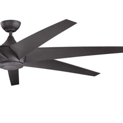 Lehr 80 in. Indoor/Outdoor Distressed Black Downrod Mount Ceiling Fan with Wall Control