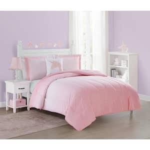 Jada Unicorn Pink 4-Piece Ultra Soft Microfiber Full Comforter Set