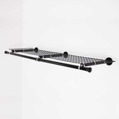 Black Double Shelf with Hanger