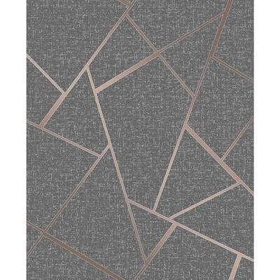 Quartz Copper Fractal 20.5 in. x 33 ft. Unpasted Peelable Vinyl Wallaper