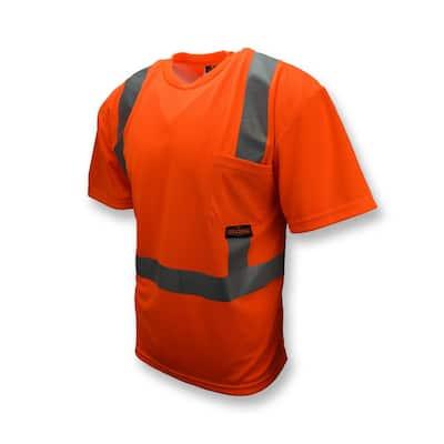 CL 2 Tshirt with Moisture Wicking Orange 3X Safety Vest