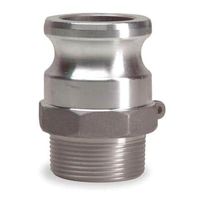 2 in. Part F Aluminum Male Adapter for Lay Flat Discharge Backwash and Suction Hoses