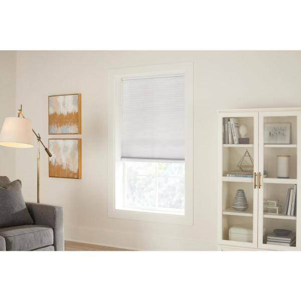 Home Decorators Collection Pebble Gray Cordless Light Filtering Cellular Shade 34 75 In W X 72 In L 10793478713820 The Home Depot