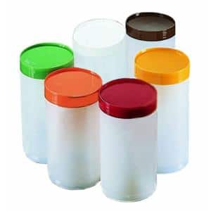 Quart Capacity Backup Units (Container and Lid only) for Stor 'N Pour Units in White with Colored Lids (Case of 12)
