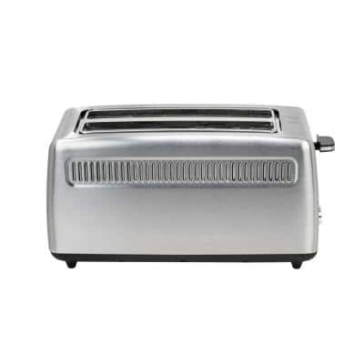 4-Slice Stainless Steel Long Slot Toaster
