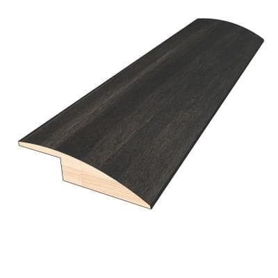 Shadow Gray 3/8 in. Thick x 1-1/2 in. Wide x 78 in. Length Hardwood Overlap Reducer Molding