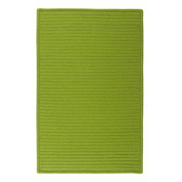 Home Decorators Collection Solid Bright Green 2 Ft X 8 Ft Braided Indoor Outdoor Runner Rug H271r024x096s The Home Depot