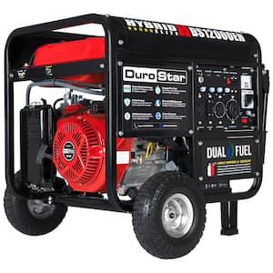 12000-Watt/9500-Watt 18 HP Electric Start Dual Fuel Hybrid Powered Propane/Gasoline Portable Generator