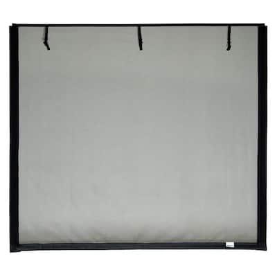 16 ft. x 7 ft. Roll-Up Garage Door Screen, 2 Zippers, with Vinyl Rod Pocket