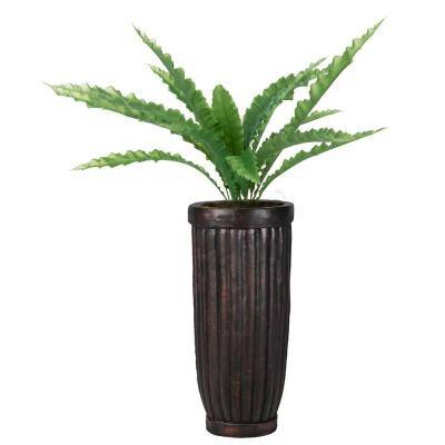 53 in. Real Touch Agave in Fiberstone Planter