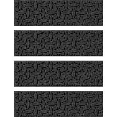 Ellipse 8.5 in. x 30 in. Stair Treads (Set of 4) Charcoal