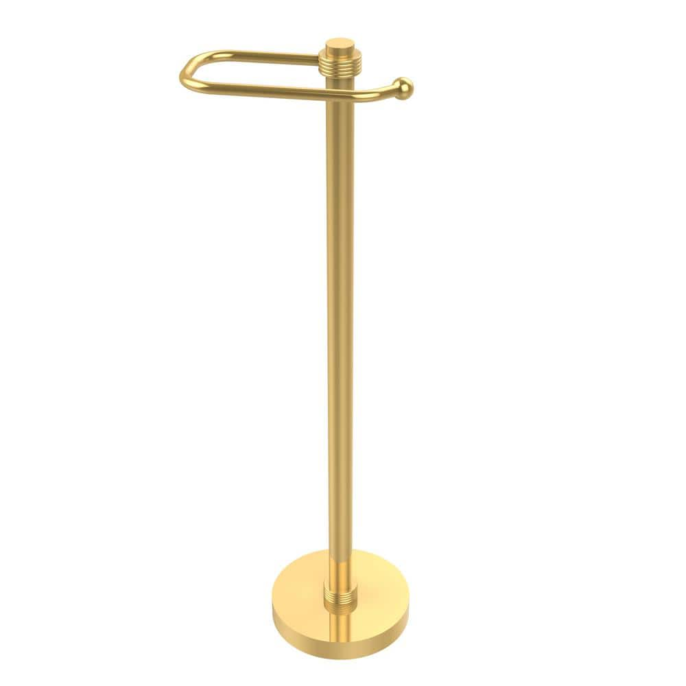 Allied Brass European Style Free Standing Toilet Paper Holder In Polished Brass Ts 25eg Pb The Home Depot