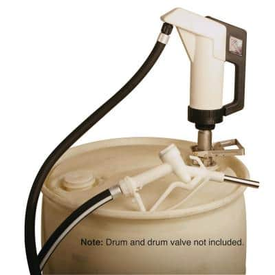 DEF Polypropylene Air-Operated Piston Drum Pump with RSV Coupler, 12 in. Hose and Manual Nozzle