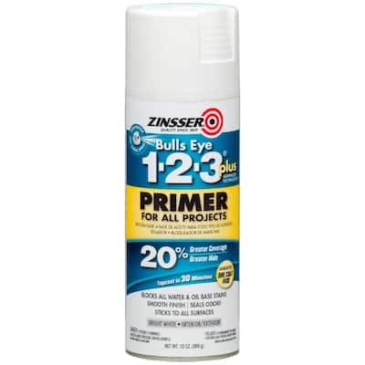 Bulls Eye 1-2-3 Plus 13 oz. White Interior/Exterior Primer Spray (6-Pack)