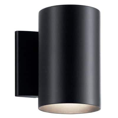 Independence 7 in. 1-Light Black Outdoor Wall Mount Sconce