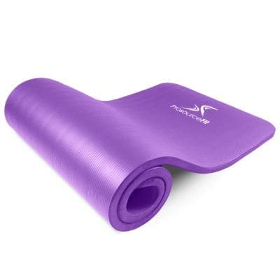 All Purpose Purple 71 in. L x 24 in. W x 1 in. T Extra Thick Yoga and Pilates Exercise Mat Non Slip (11.83 sq. ft.)