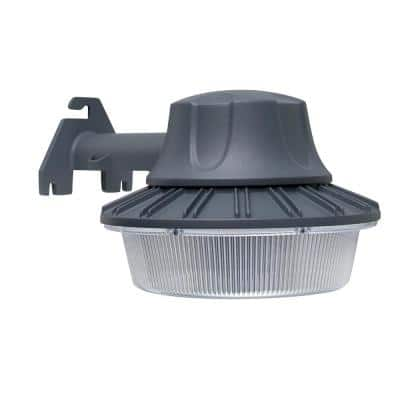 46-Watt Gray Outdoor Integrated LED Area Light Wall/Pole Mountable with Dusk to Dawn Control