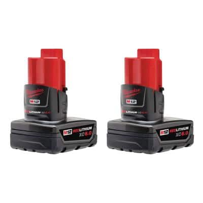 M12 12-Volt Lithium-Ion XC Extended Capacity 6.0 Ah Battery Pack (2-Pack)