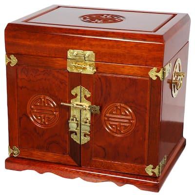 Honey Jewelry Box with 5 Drawers