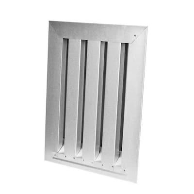 12 in. x 18 in. Brandguard Gable Vent Fire/Ember Resistant Galvanized Steel Rectangular Silver